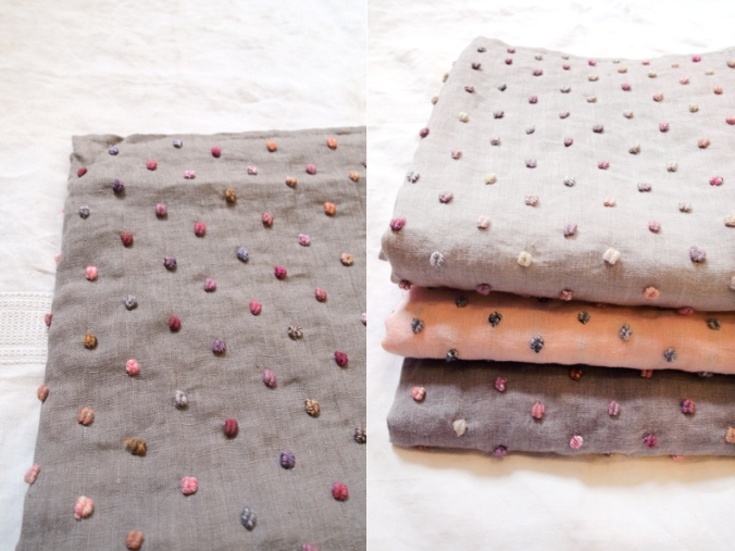Sophie Digard Linen Blanket with Dots via Makie Clothier as seen on Oaxacaborn dot com