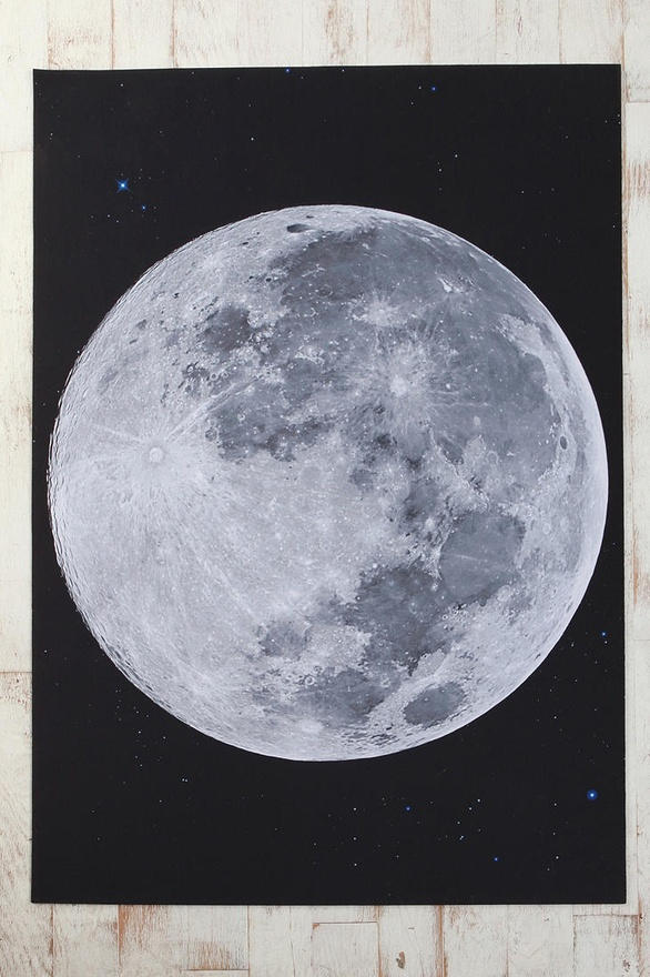 Trompe L'Oeil Floor Mat - Moon via Urban Outfiters