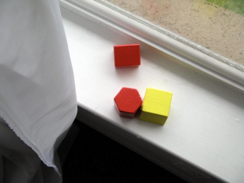 Blocks on Windowsill, photo via Oaxacaborn dot com