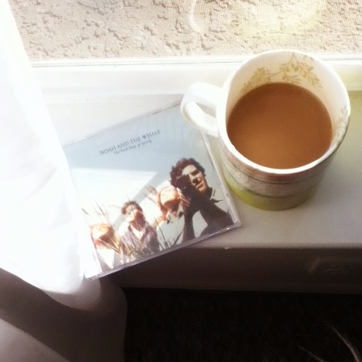 Coffee and Noah and the Whale CD titled The First Day of Spring - Photo on Oaxacaborn dot com