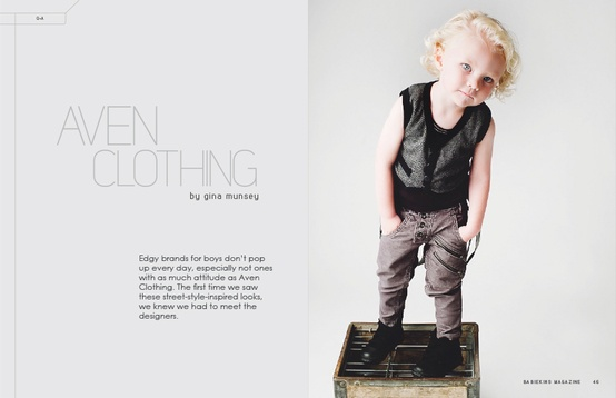 Interview with Mitch Harris of Aven Clothing by Gina Munsey for Babiekins Magazine Issue 10