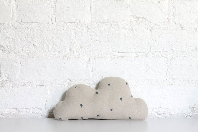 Linen Cloud with stars via Hello Milky on Etsy