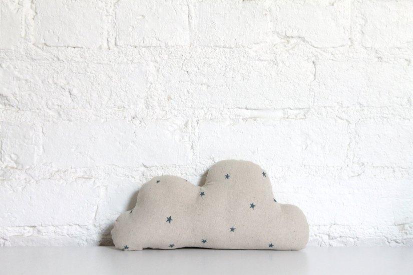 Linen Cloud with stars via Hello Milky on Etsy