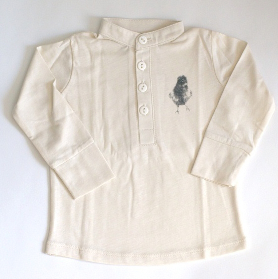 Lobilo jersey shirt with bird print