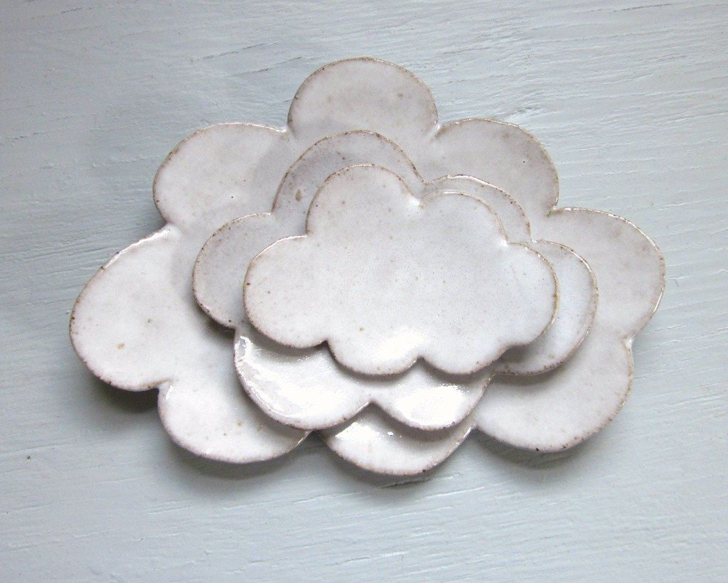 Nesting Cloud Plates - Ceramics via Jd Wolfe Pottery
