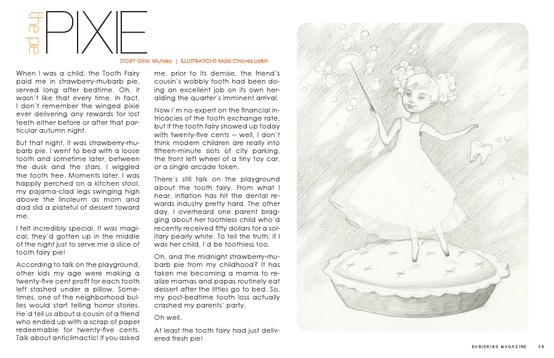 The Pie Pixie by Gina Munsey for Babiekins Magazine Issue 10
