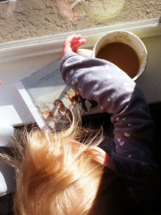 Toddler stealing coffee - Photo on Oaxacaborn dot com