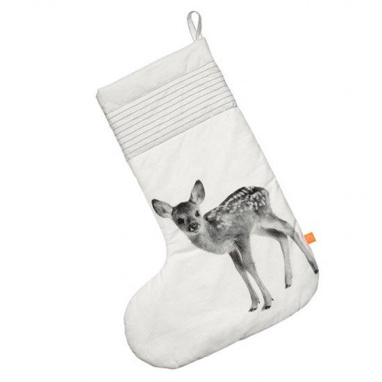 Christmas Sock Deer XL via Le Souk, Unique Living