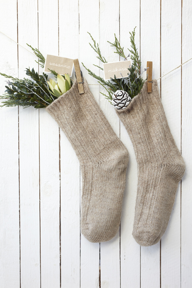 -Christmas Stockings via La Petite Cusine, photo by Susanne Schanz