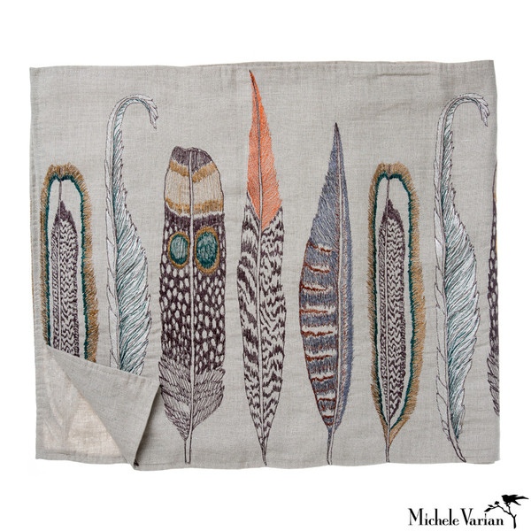 Feather Table Runner by Michele Varian