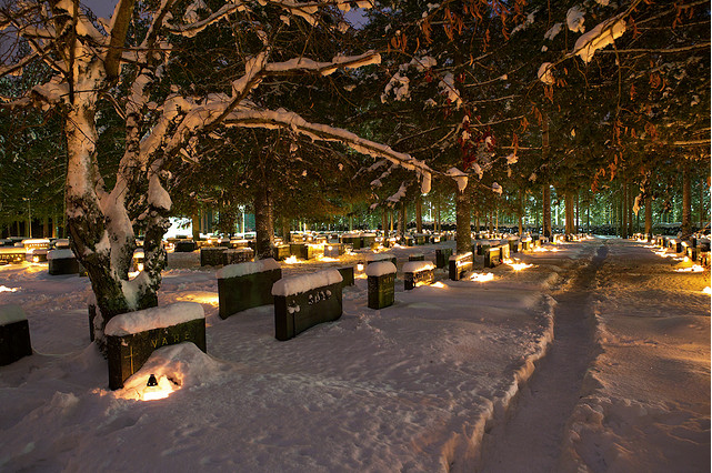 Finnish Cemetery at Christmas by Jussi Hellsten Photography