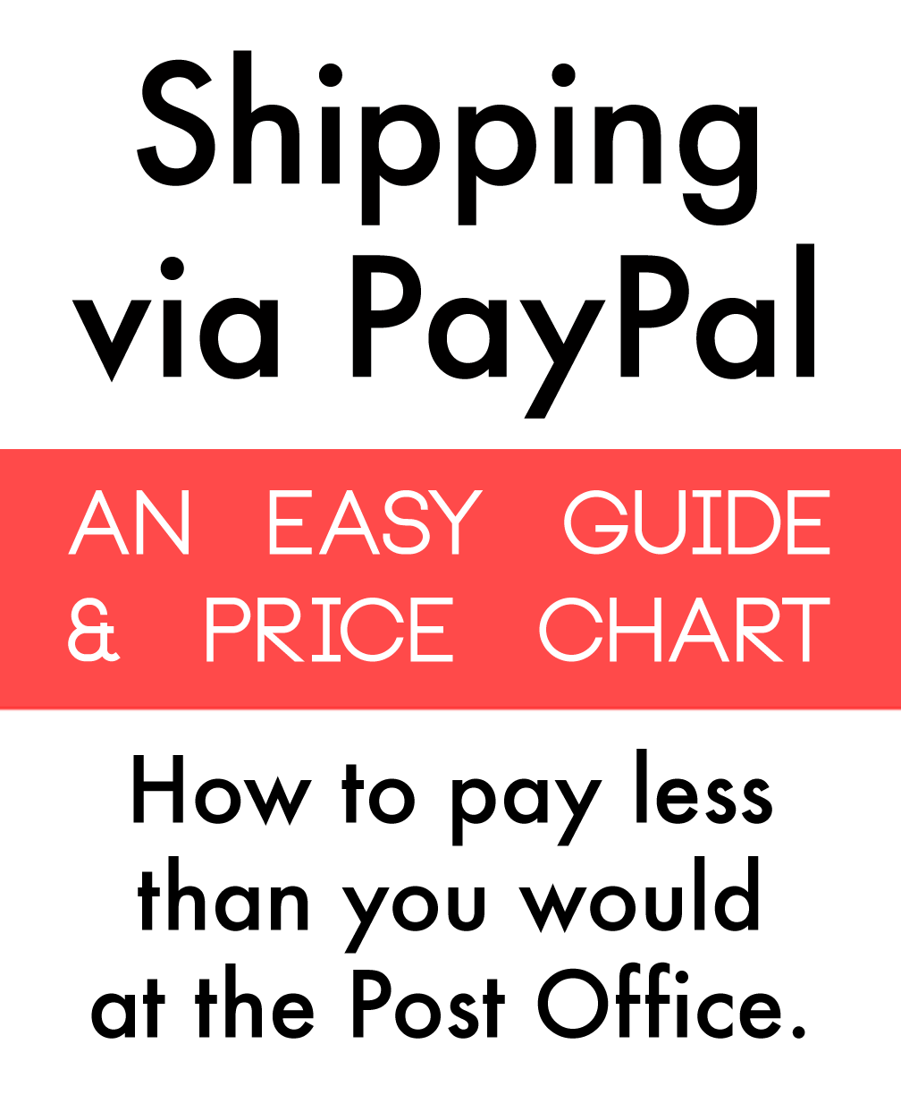 TUTORIAL: How To Ship Via PayPal: An Easier And Cheaper