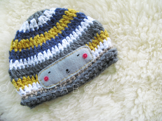 Striped hat with Kawaii/Kokeshi Face - Oaxacaborn on Etsy - $26