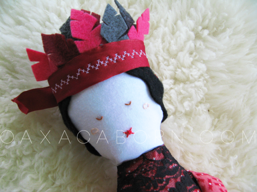 Red Feathered Doll - Oaxacaborn on Etsy - $40
