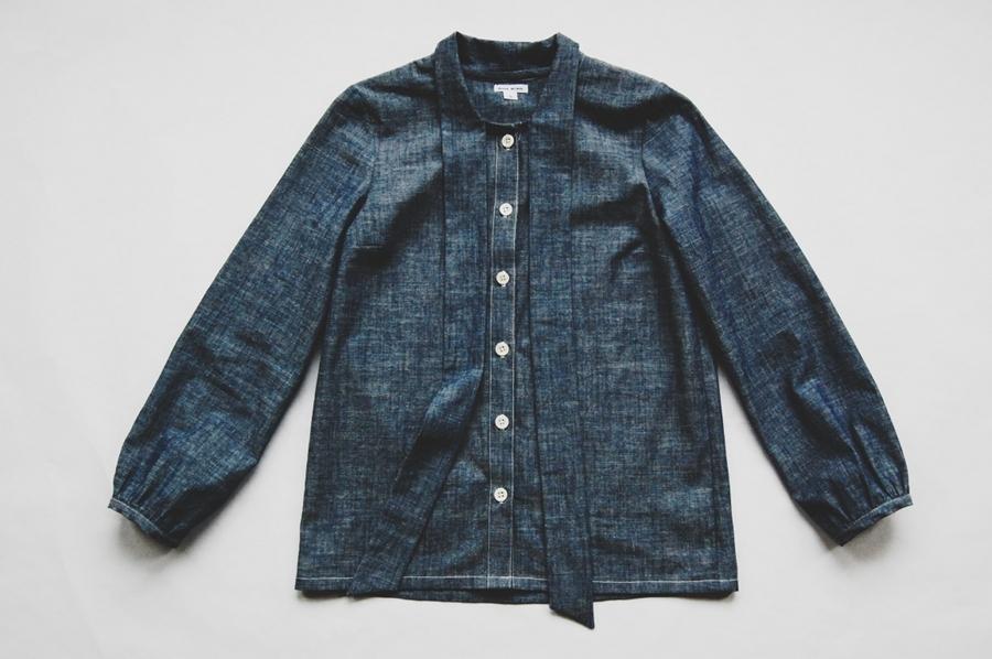 Chambray Tie Shirt - Anna Allen Clothing