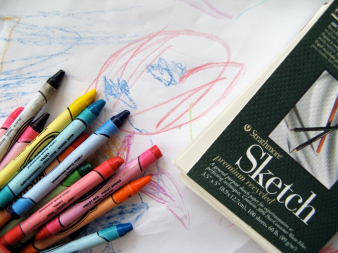 Crayons and Strathmore