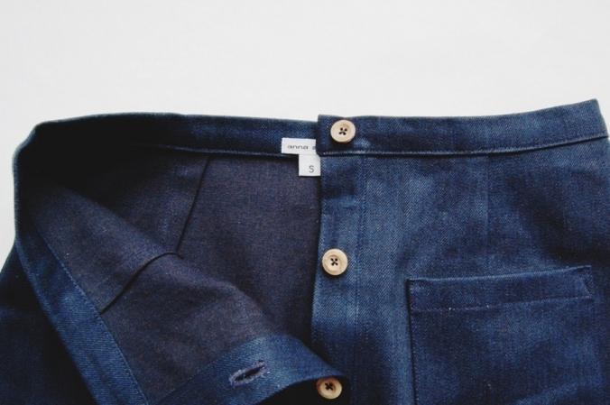 Denim Button-up Skirt - Anna Allen Clothing