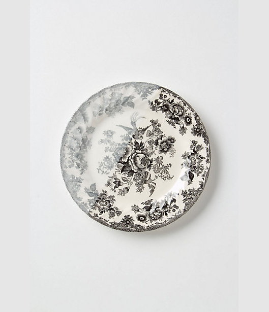 Dipped Toile Dinner Plates via Anthropologie