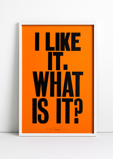 I like it. What is it? print by Anthony Burrill