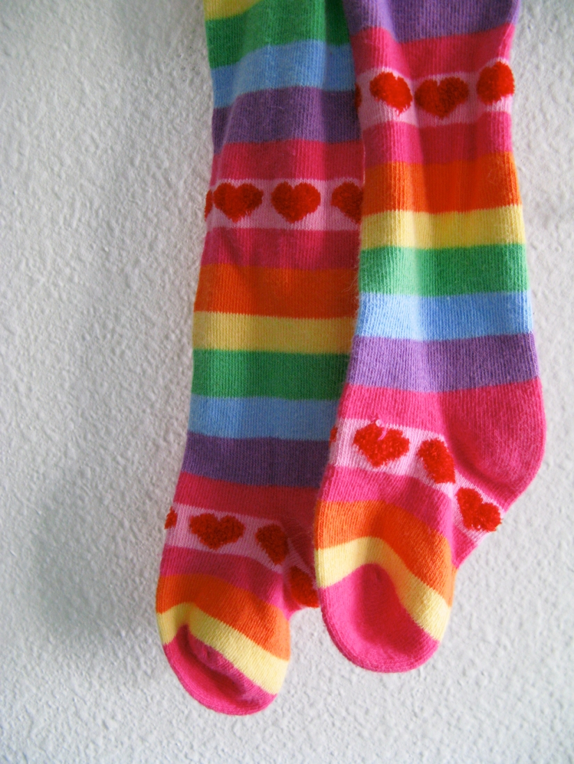Little Style - Toddler Stripey Tights on Oaxacaborn dot com