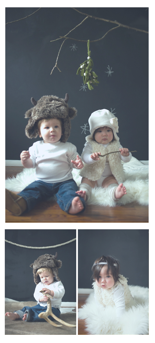 Neutral Hue's Scandinavian Christmas photo shoot as seen on the Oaxacaborn blog