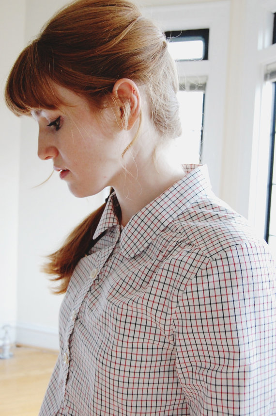 Tattersall Pullover Top - Anna Allen Clothing