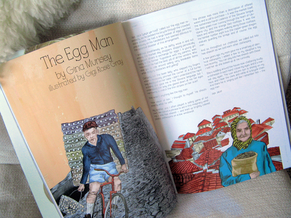 The Egg Man in Babiekins Magazine - by Gina Munsey and illustrated by Gigi Rose Gray
