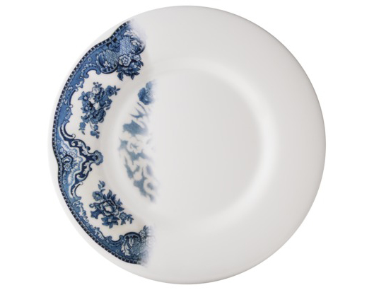 TOO by BLU DOT Dinnerware Collection via Target // Dip-dyed Toile Plates