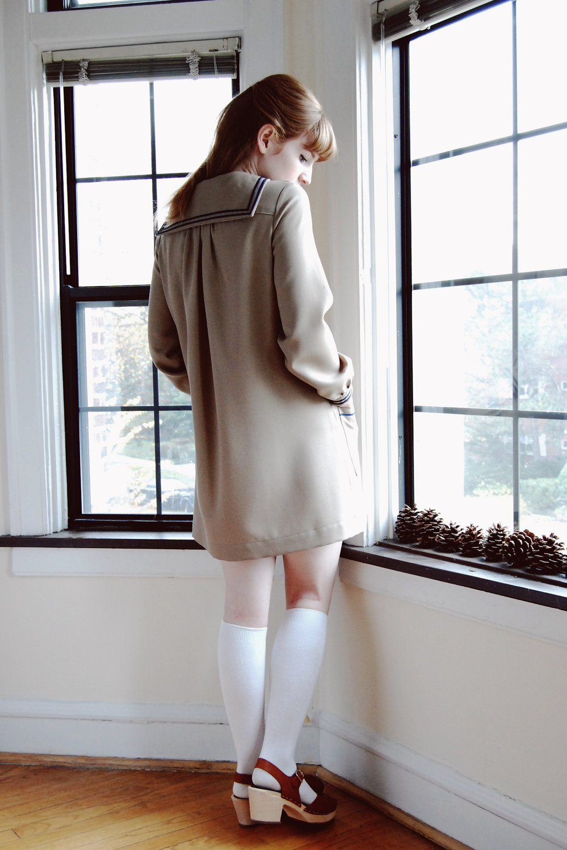 Wool Sailor Dress -- Anna Allen Clothing