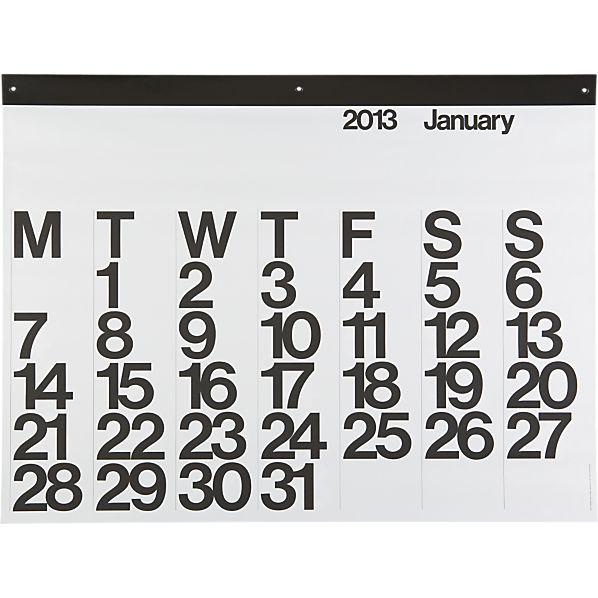 Classic 2013 Wall Calendar via Crate and Barrel