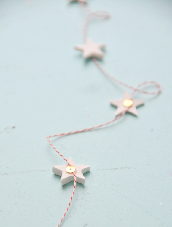 DIY Scandinavian-inspired clay star garland via the Creature Comforts Blog