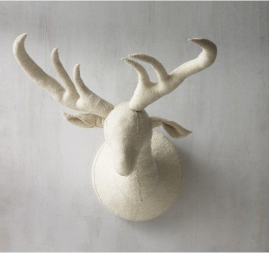Felt Deer Head via Dwell Studio