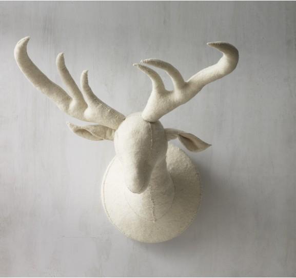 Felt Deer Head via Dwell Studio