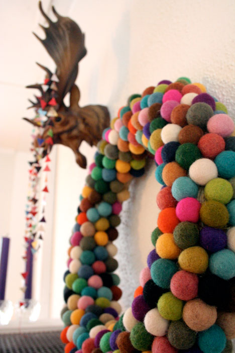 Felted Ball Wreath from Pickles