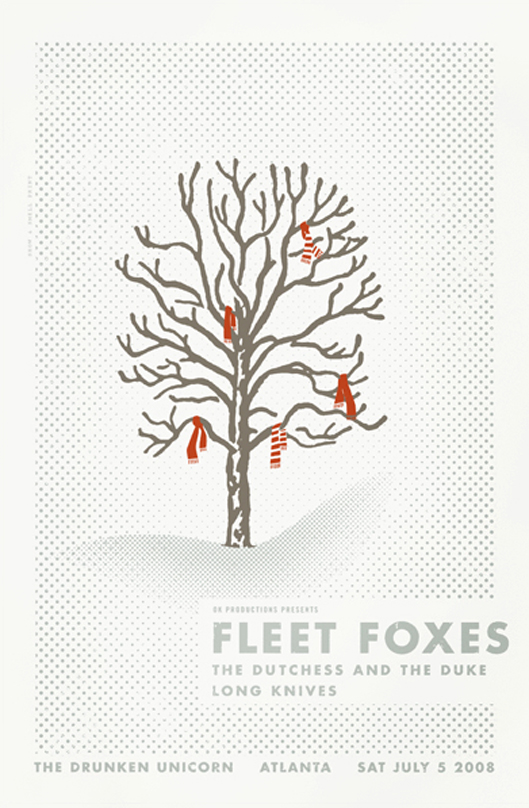 Fleet Foxes poster by Alvin Diec