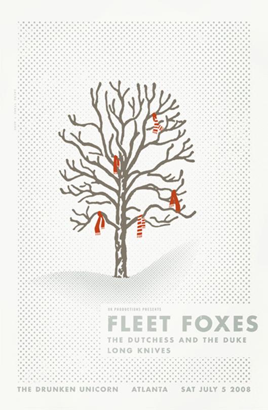 Fleet Foxes poster by Alvin Diec