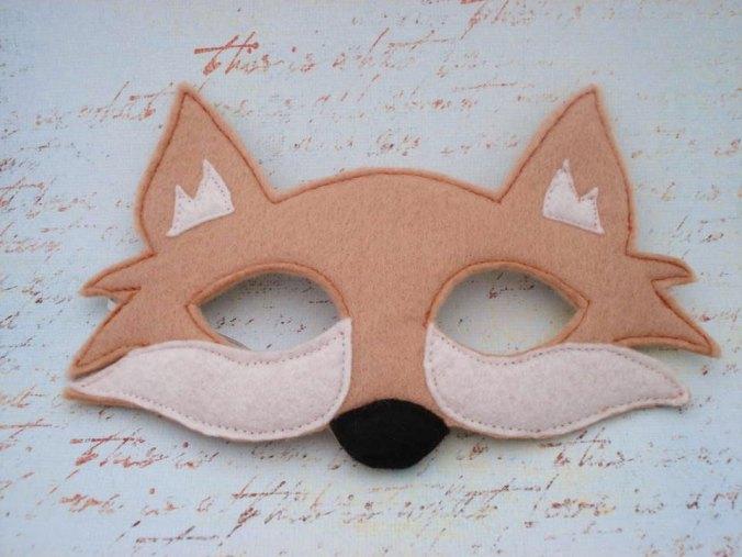 fox mask via her flying horses on etsy