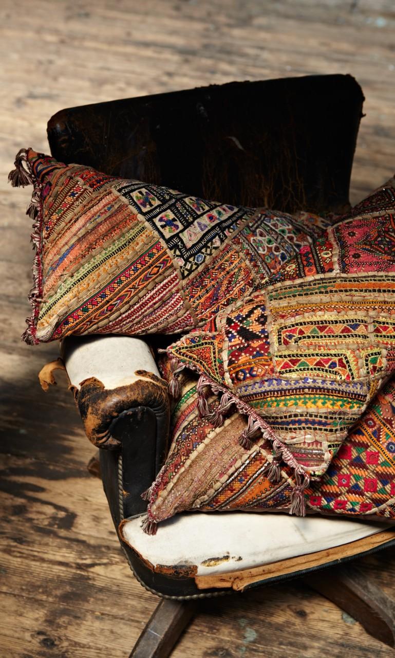 Kelim Cushions via Plumo