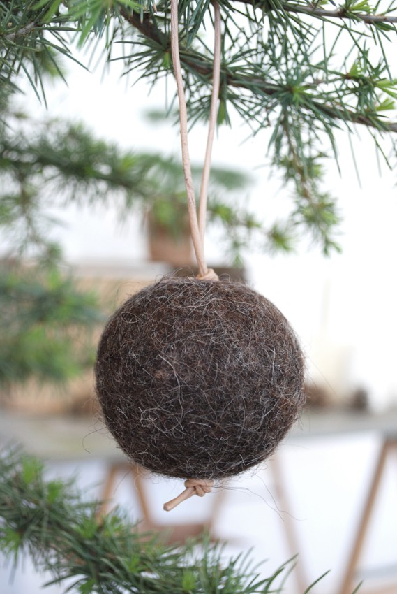 Natural felt ball via Ferm Living