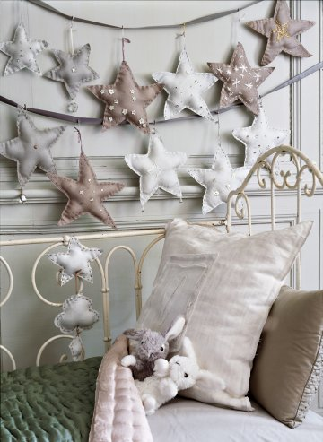 sewn star garland via Marie Claire Idees