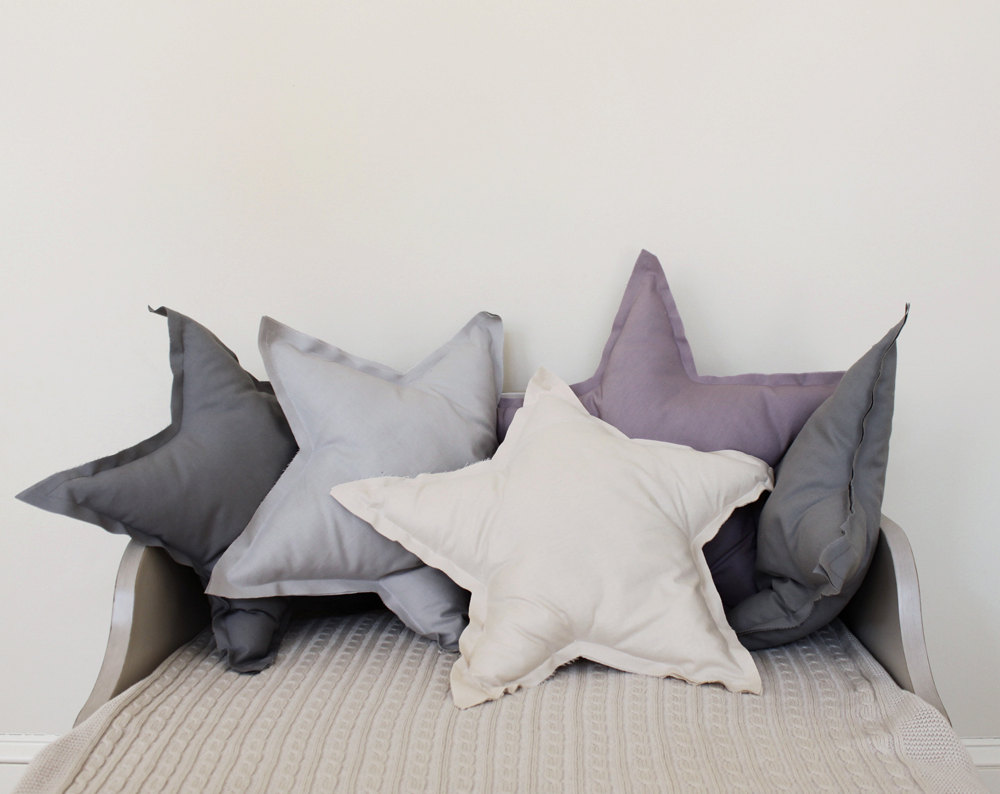 Star Shaped Pillows via ColetteBream