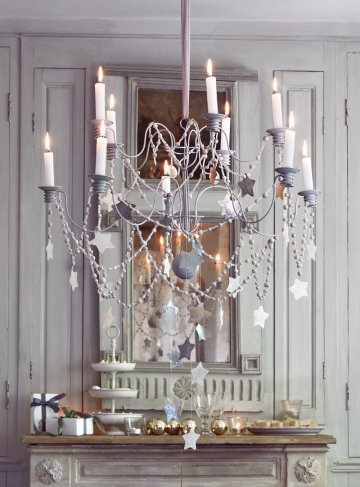 Stars Hanging from Chandelier via Marie Claire Idees