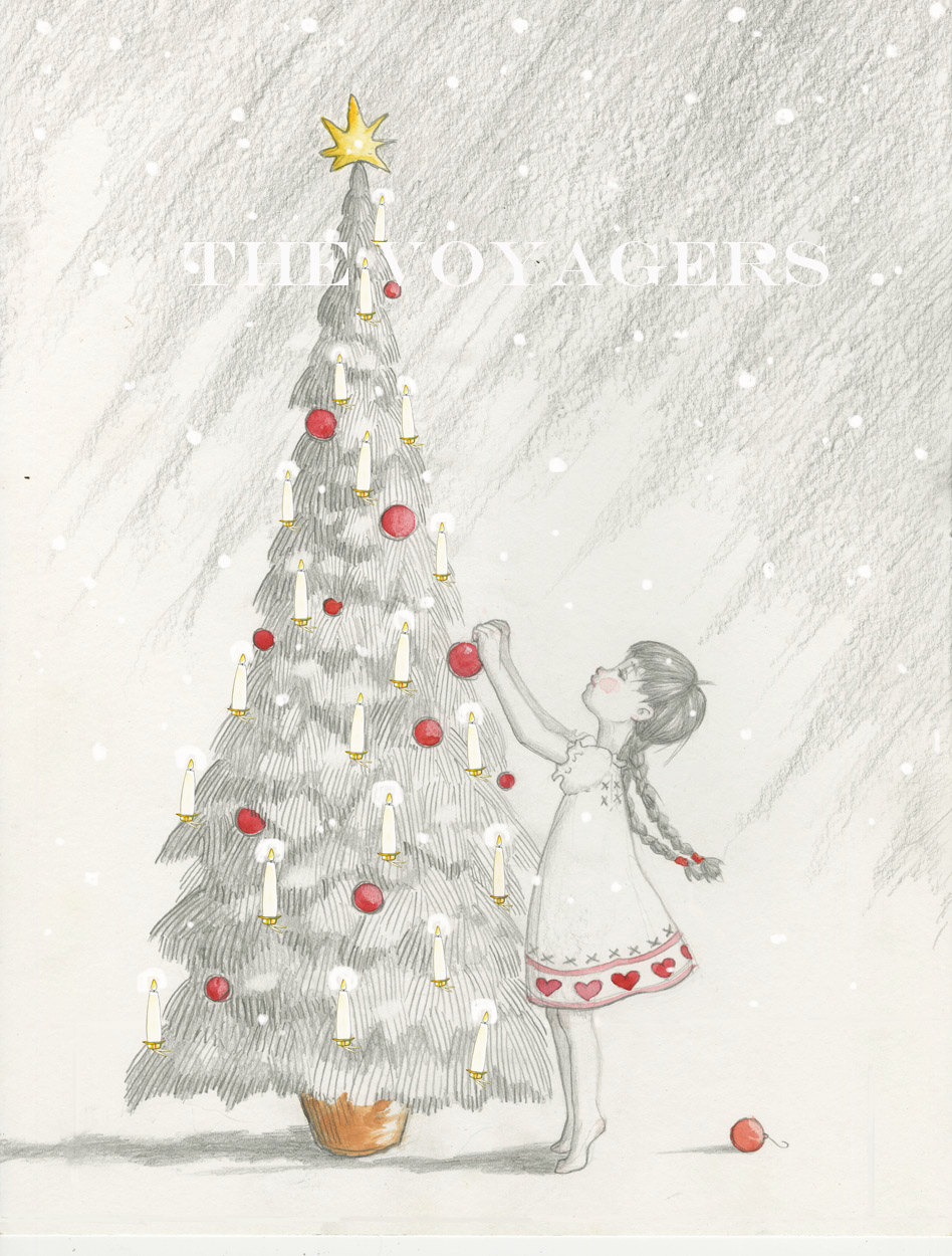 The Candle Tree, Illustration by Maia Larkin of The Voyagers for Babiekins Magazine