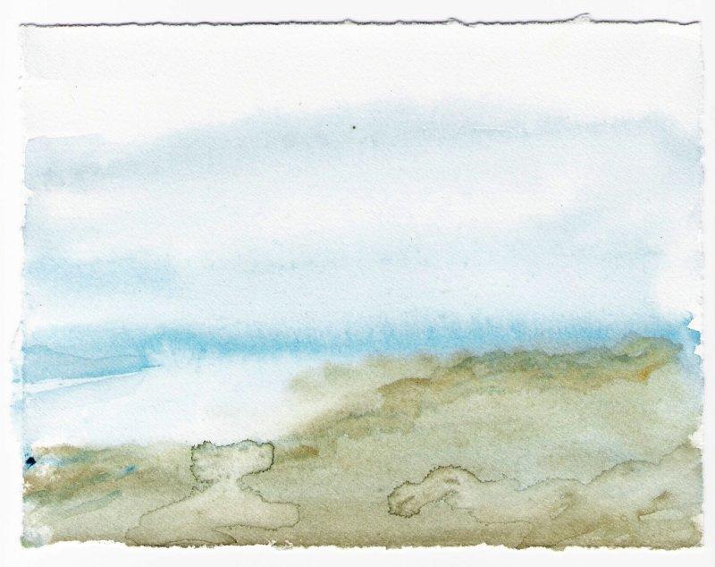 Silencio del Mar - Watercolor by Oaxacaborn