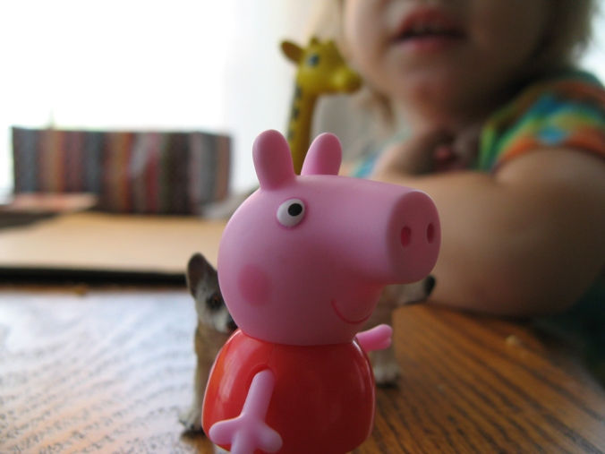 February 2013 - Aveline with Peppa Pig