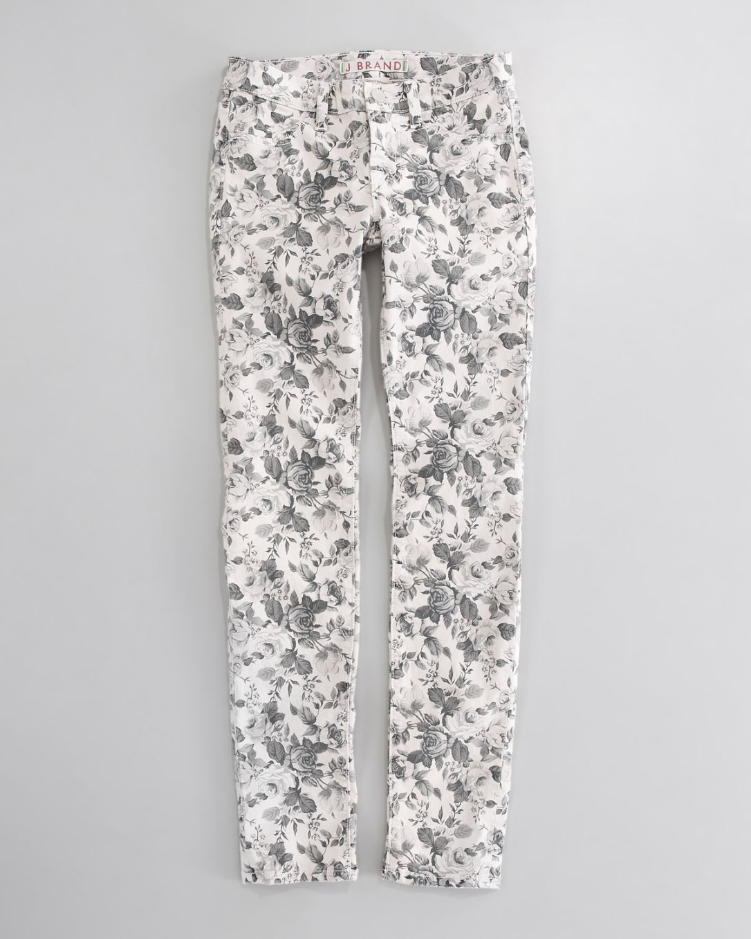 J Brand Jeans Floral Twill Skinny Jeans