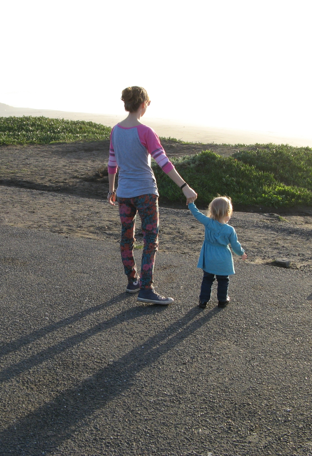 January 2013 - Aveline and I at Bodega Bay in California
