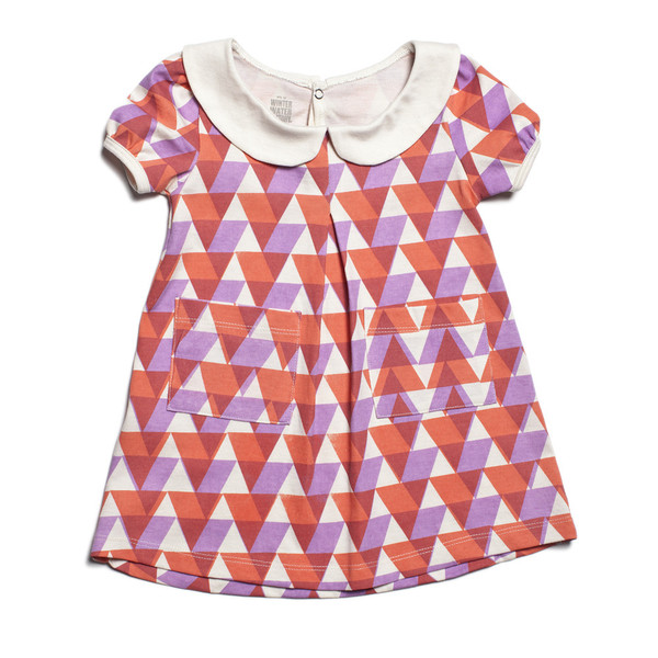 Chelsea Dress - Lavender and Orange Triangles via Winter Water Factory