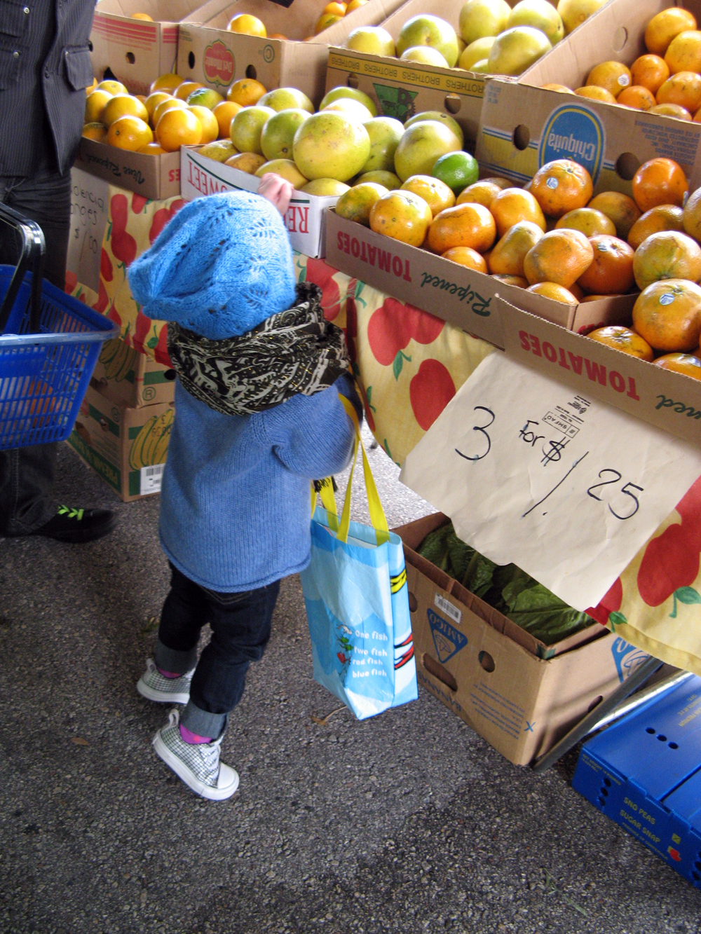 Toddler at Farmer's Market