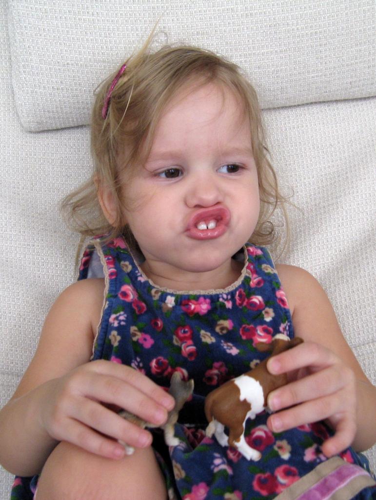 April 2013 - Aveline making crazy face
